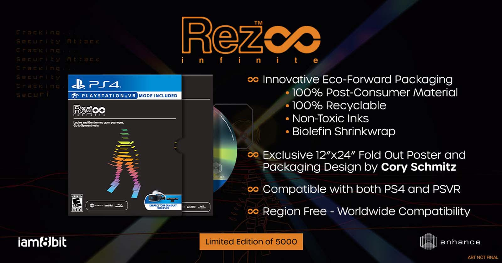 iam8bit x Rez Infinite PS4 Physical Reissue and Area X Vinyl by Hydelic
