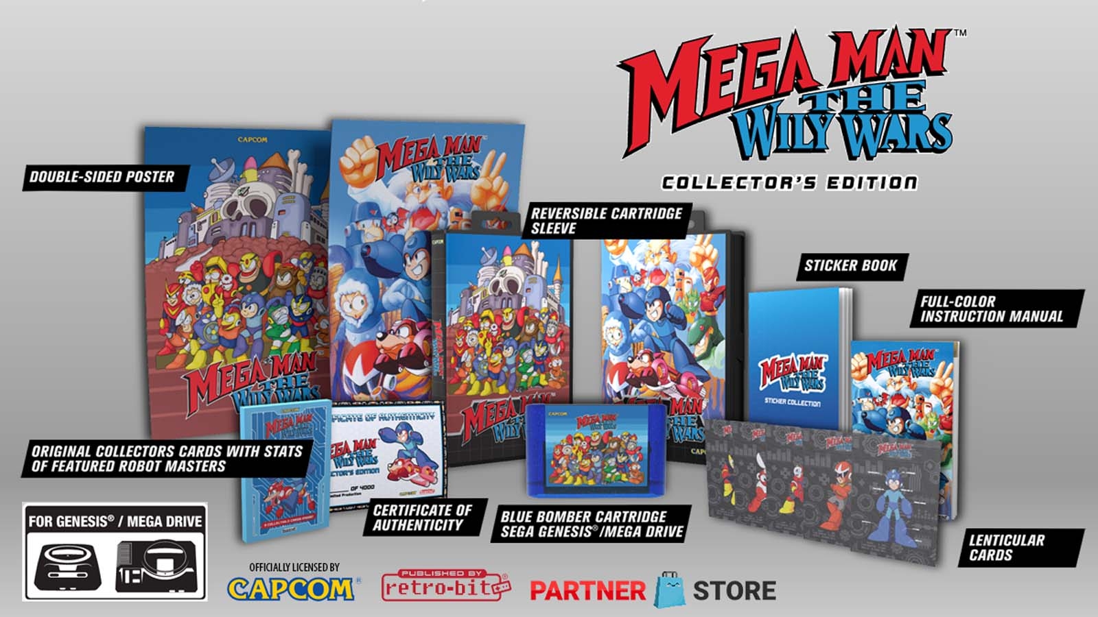 Mega Man the Wily Wars Available for Pre-Order for GenesisMega Drive