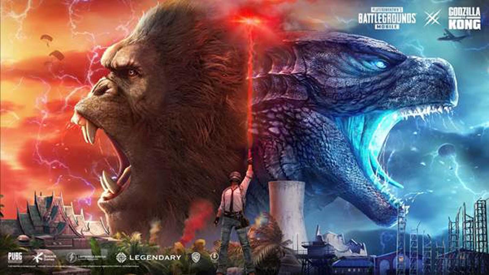 PUBG MOBILE adds Godzilla vs. Kong