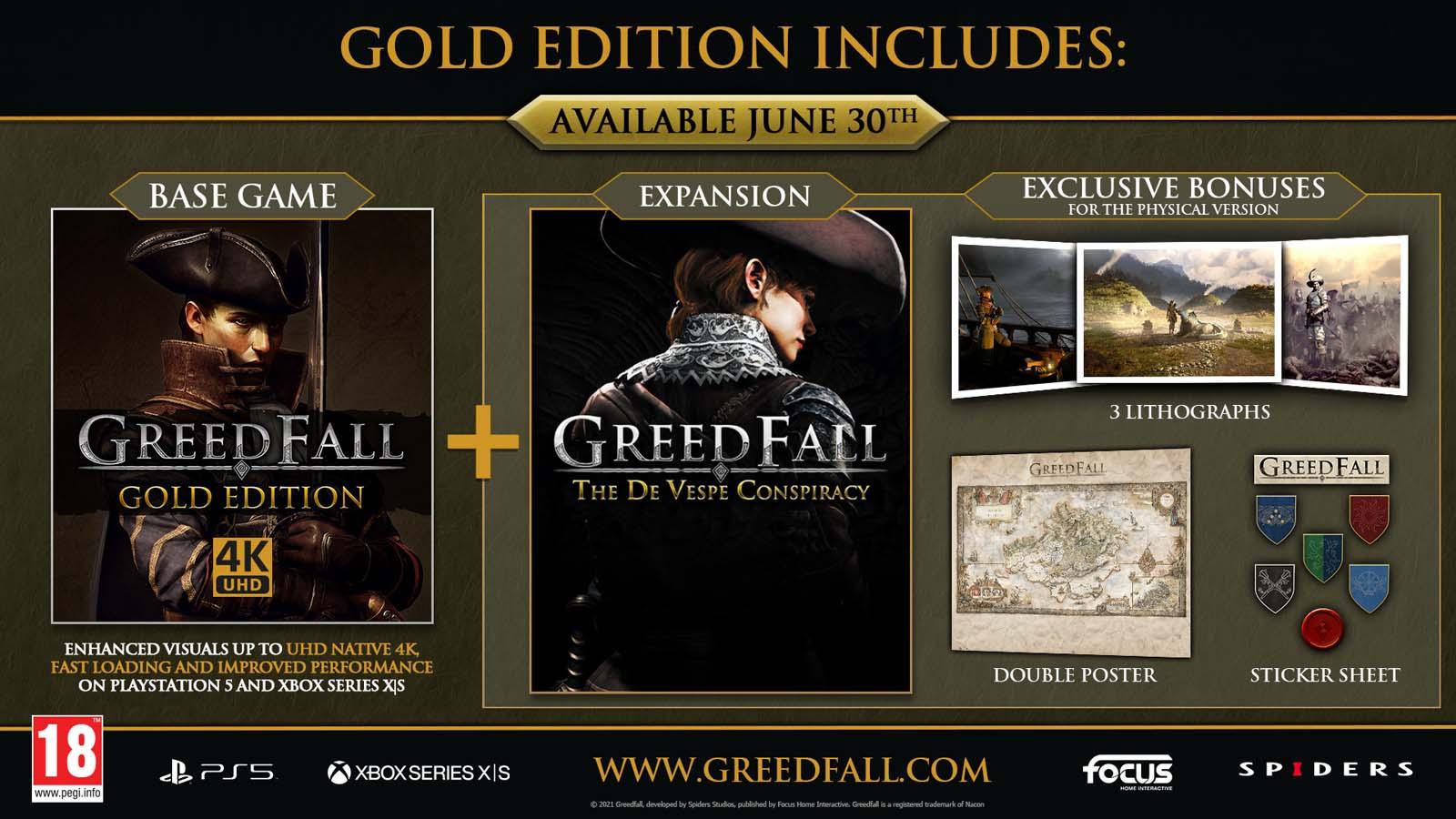 GreedFall Gold Edition retail promo